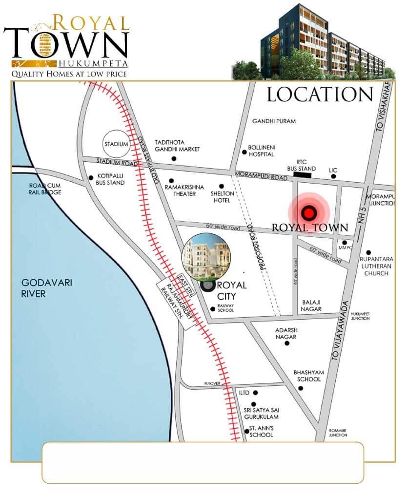 Royaltown-location